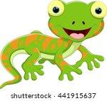 cute lizard cartoon | Shutterstock .eps vector #441915637