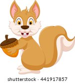 cute beaver cartoon holding... | Shutterstock .eps vector #441917857