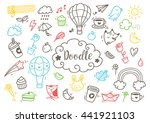 set of cute hand drawn doodle | Shutterstock . vector #441921103