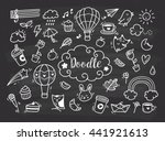 set of cute hand drawn doodle | Shutterstock . vector #441921613