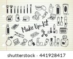 set of make up kit doodle | Shutterstock . vector #441928417