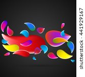 colored splashes in abstract... | Shutterstock .eps vector #441929167
