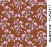 seamless floral pattern with... | Shutterstock . vector #441929647