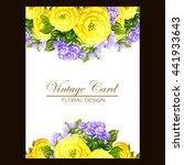 vintage delicate invitation...   Shutterstock .eps vector #441933643
