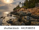 bass harbor headlight  explored  | Shutterstock . vector #441938053