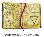 Old Witch Book With Demon ...