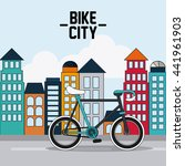 classic bicycle. bike and city... | Shutterstock .eps vector #441961903