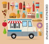 delicius food. truck icon.... | Shutterstock .eps vector #441965083