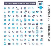 information technology icons | Shutterstock .eps vector #441982843