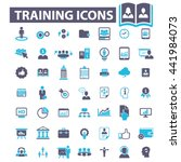 training icons | Shutterstock .eps vector #441984073