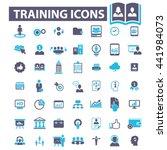 training icons | Shutterstock .eps vector #441984073