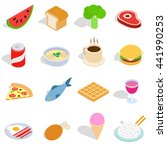 food icons set in isometric 3d... | Shutterstock .eps vector #441990253