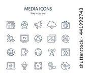 media icons. | Shutterstock .eps vector #441992743
