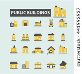buildings icons | Shutterstock .eps vector #441993937
