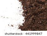 Soil Or Dirt Section Isolated...