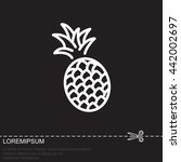 web line icon. pineapple | Shutterstock .eps vector #442002697