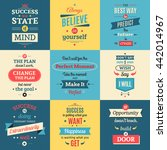 success quotes colored isolated ... | Shutterstock .eps vector #442014967