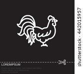 web line icon. cock | Shutterstock .eps vector #442015957
