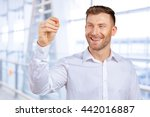 attractive businessman or... | Shutterstock . vector #442016887