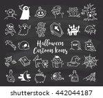 set of cartoon halloween icons | Shutterstock . vector #442044187