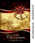 golden background with... | Shutterstock . vector #442045147