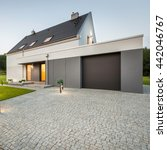 external view of stylish house... | Shutterstock . vector #442046767