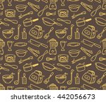 cooking utensil seamless... | Shutterstock . vector #442056673