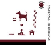 dog icons | Shutterstock .eps vector #442058437