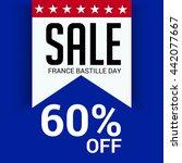 vector illustration of sale... | Shutterstock .eps vector #442077667