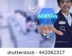 agenda concept presented by ... | Shutterstock . vector #442082317