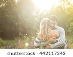 loving couple embracing each... | Shutterstock . vector #442117243