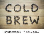 cold brew by beans | Shutterstock . vector #442125367