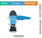 hairdryer icon. flat color...