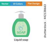 liquid soap icon. flat color...