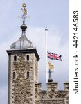 British Flag At Half Mast
