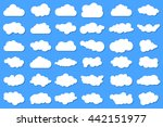 simple cloud collection with... | Shutterstock .eps vector #442151977