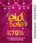 elegant pink eid sale poster ... | Shutterstock .eps vector #442155427
