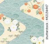 japanese seamless pattern.... | Shutterstock .eps vector #442156447