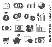 simple icon set related to money | Shutterstock .eps vector #442197007
