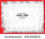 grunge frame   abstract texture.... | Shutterstock .eps vector #442203823