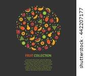 vector collection of fresh...   Shutterstock .eps vector #442207177
