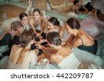 the seven ballerinas against... | Shutterstock . vector #442209787