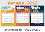 doodle calendar design 2017... | Shutterstock .eps vector #442239217