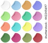 set of pastel color round paper ... | Shutterstock .eps vector #442245697
