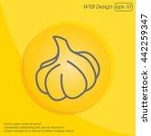web line icon. garlic | Shutterstock .eps vector #442259347