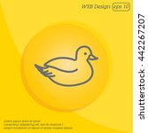 web line icon. duck | Shutterstock .eps vector #442267207
