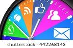 social media time management... | Shutterstock . vector #442268143