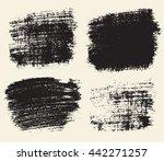 vector set of hand drawn brush... | Shutterstock .eps vector #442271257