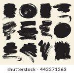vector set of hand drawn brush... | Shutterstock .eps vector #442271263