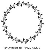 round black and white frame... | Shutterstock .eps vector #442272277